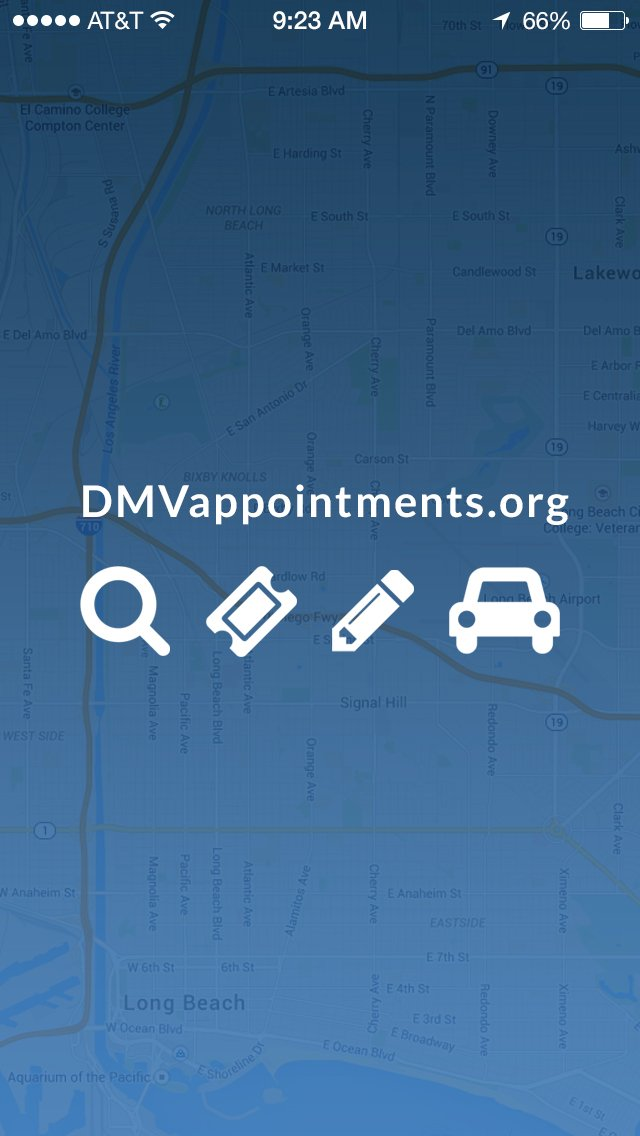 DMV Appointments App iOS App - KamGraphica