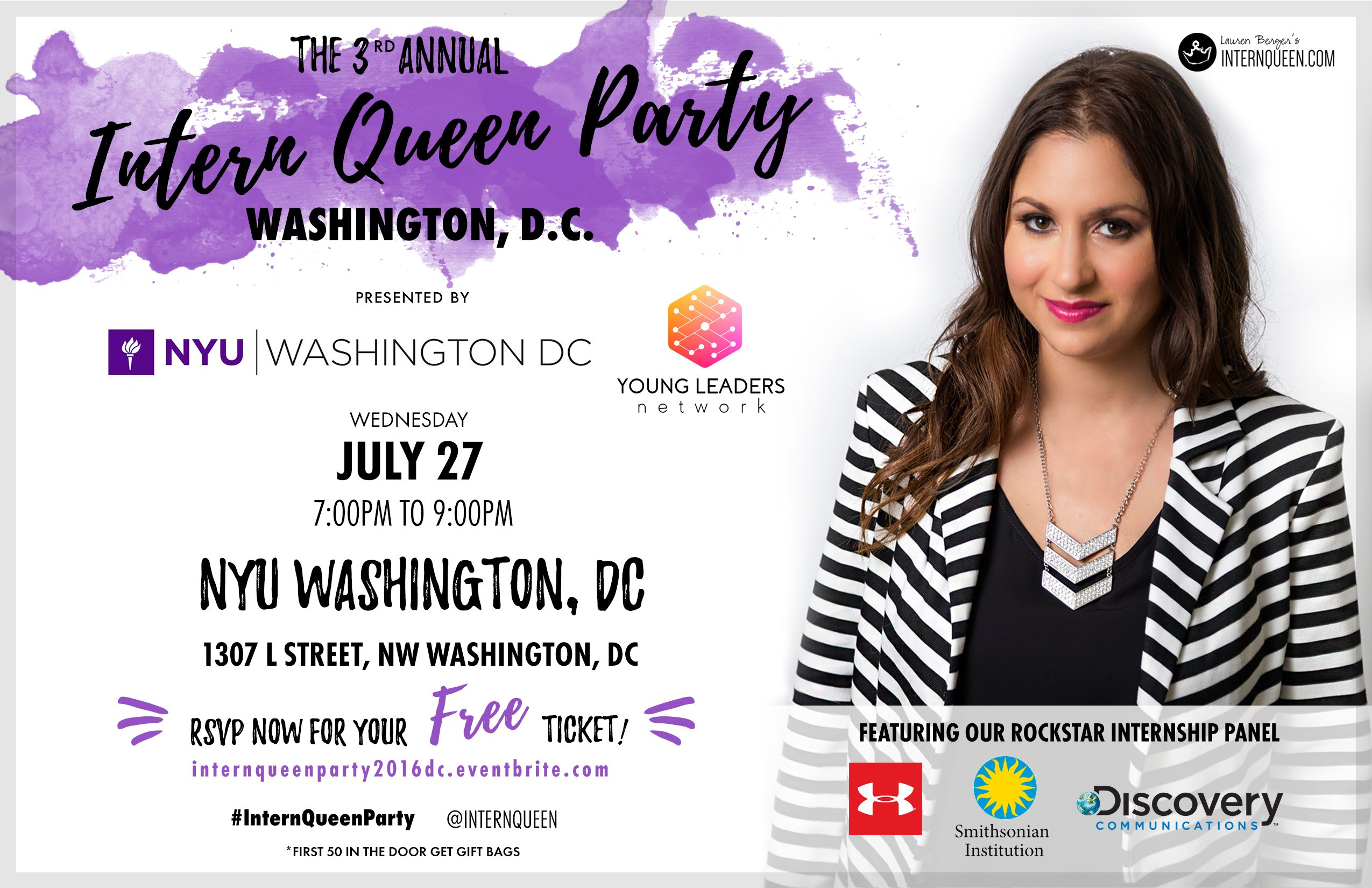 Intern Queen Party DC