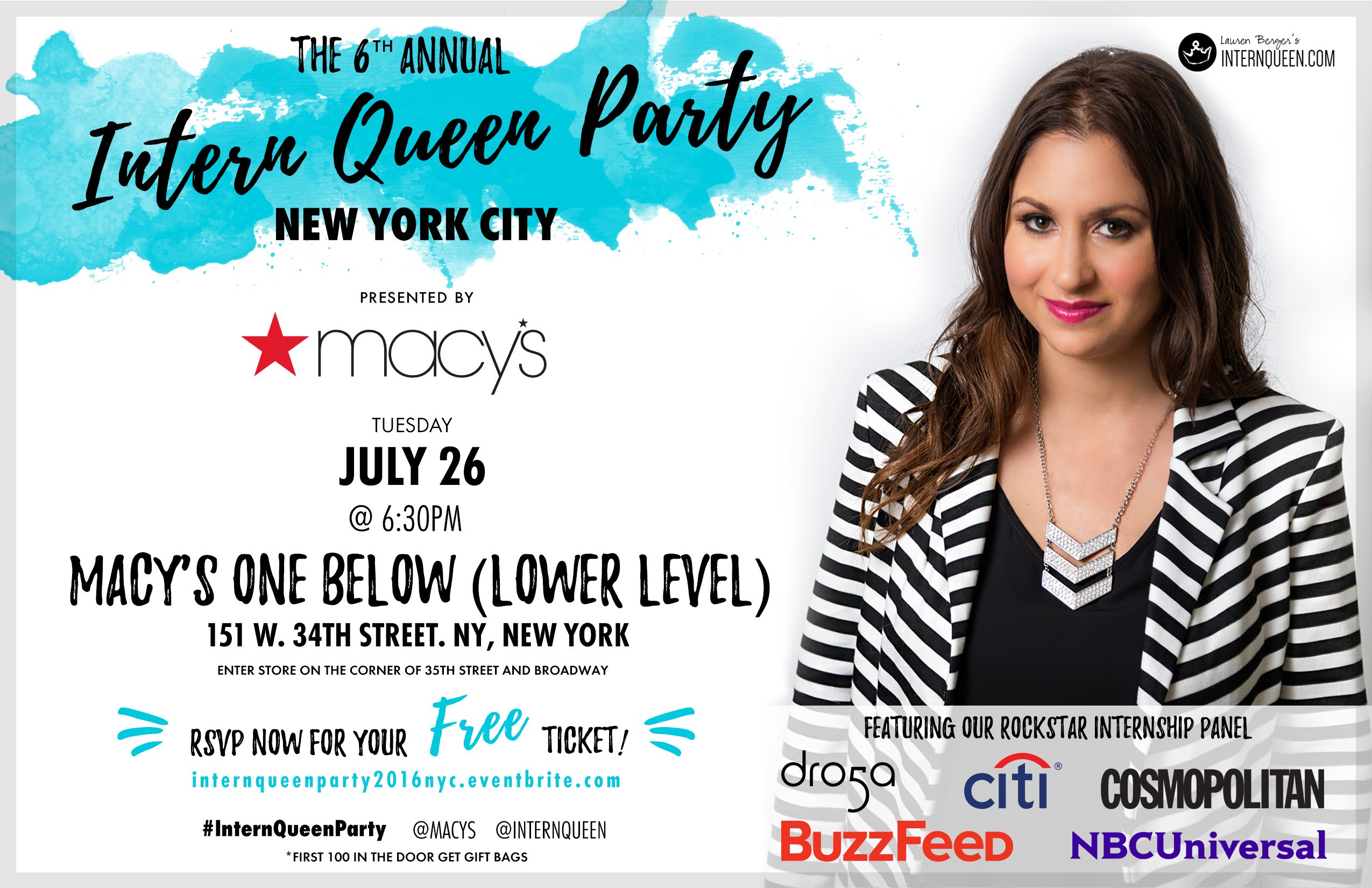 Intern Queen Party NY