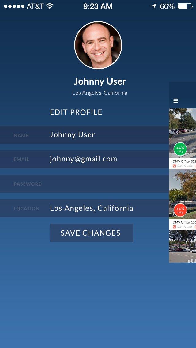 DMV Edit Profile