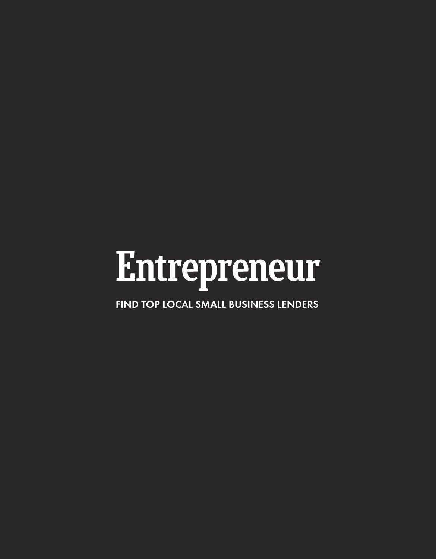 Entrepreneur Small Business Lender Search