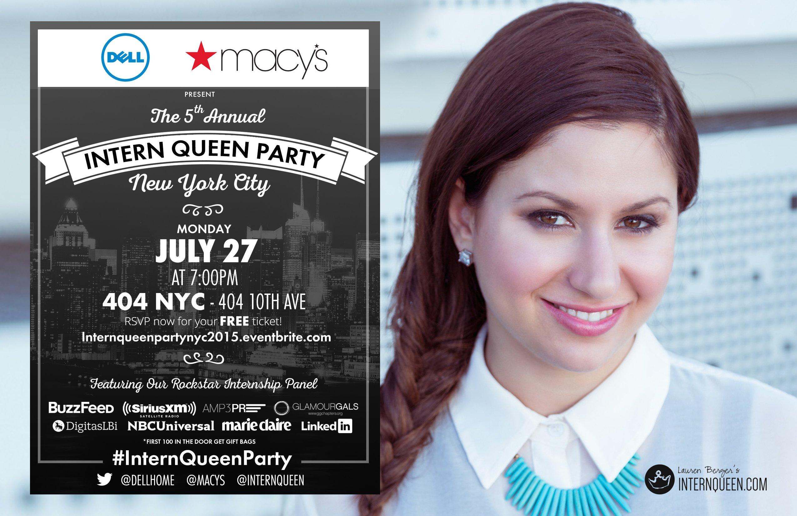 Intern Queen Party NY 2015